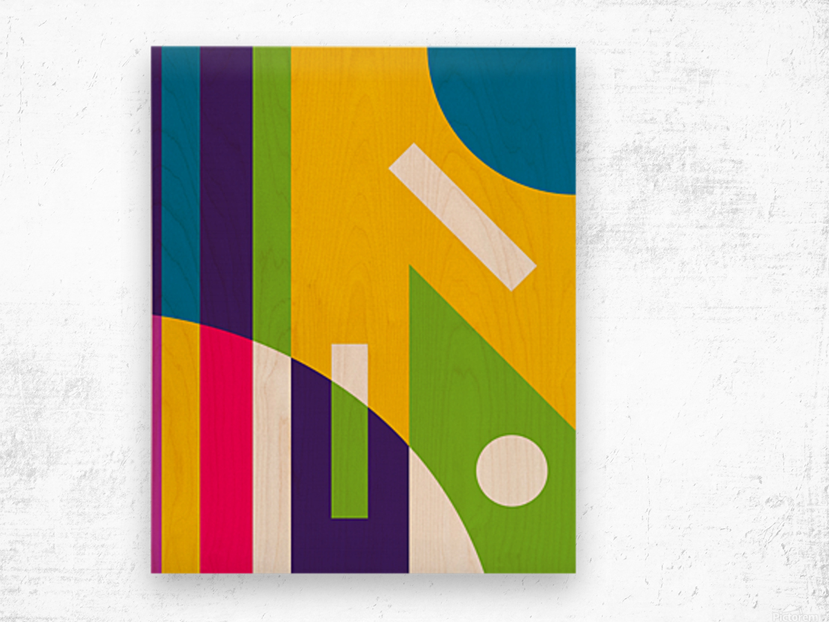 2 White Lines in Abstract Background Wood print