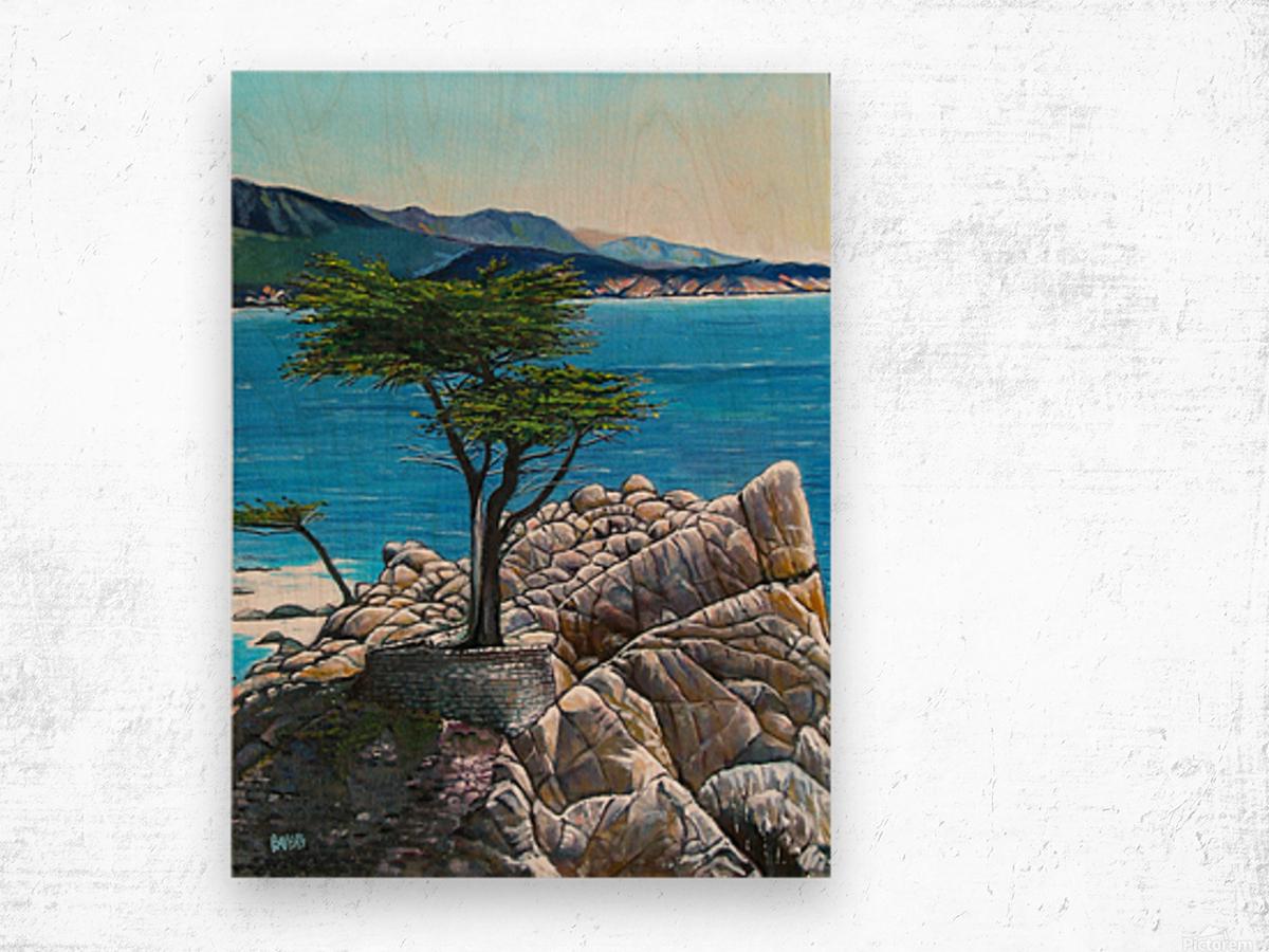 Lone Tree at Pebble Beach Wood print