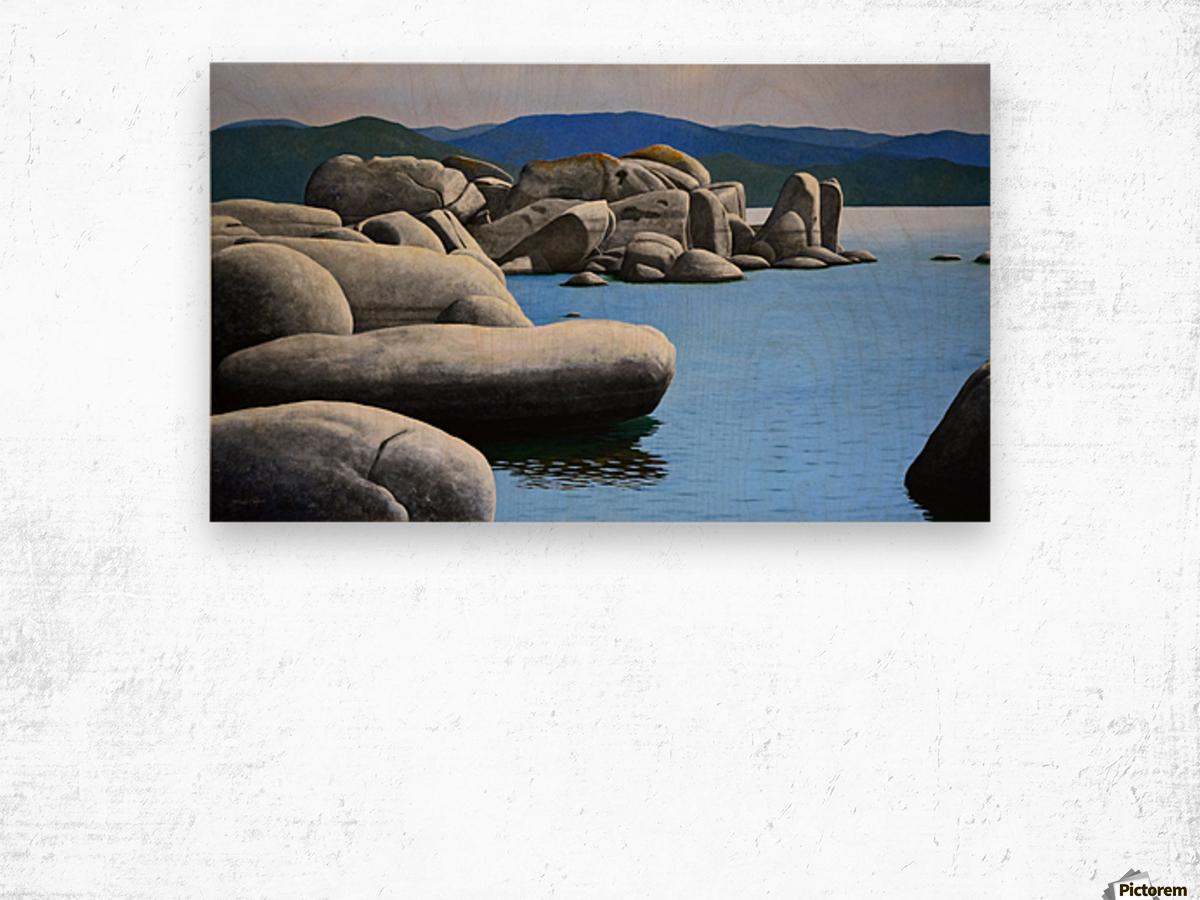 Lake Tahoe Rocky Cove Wood print