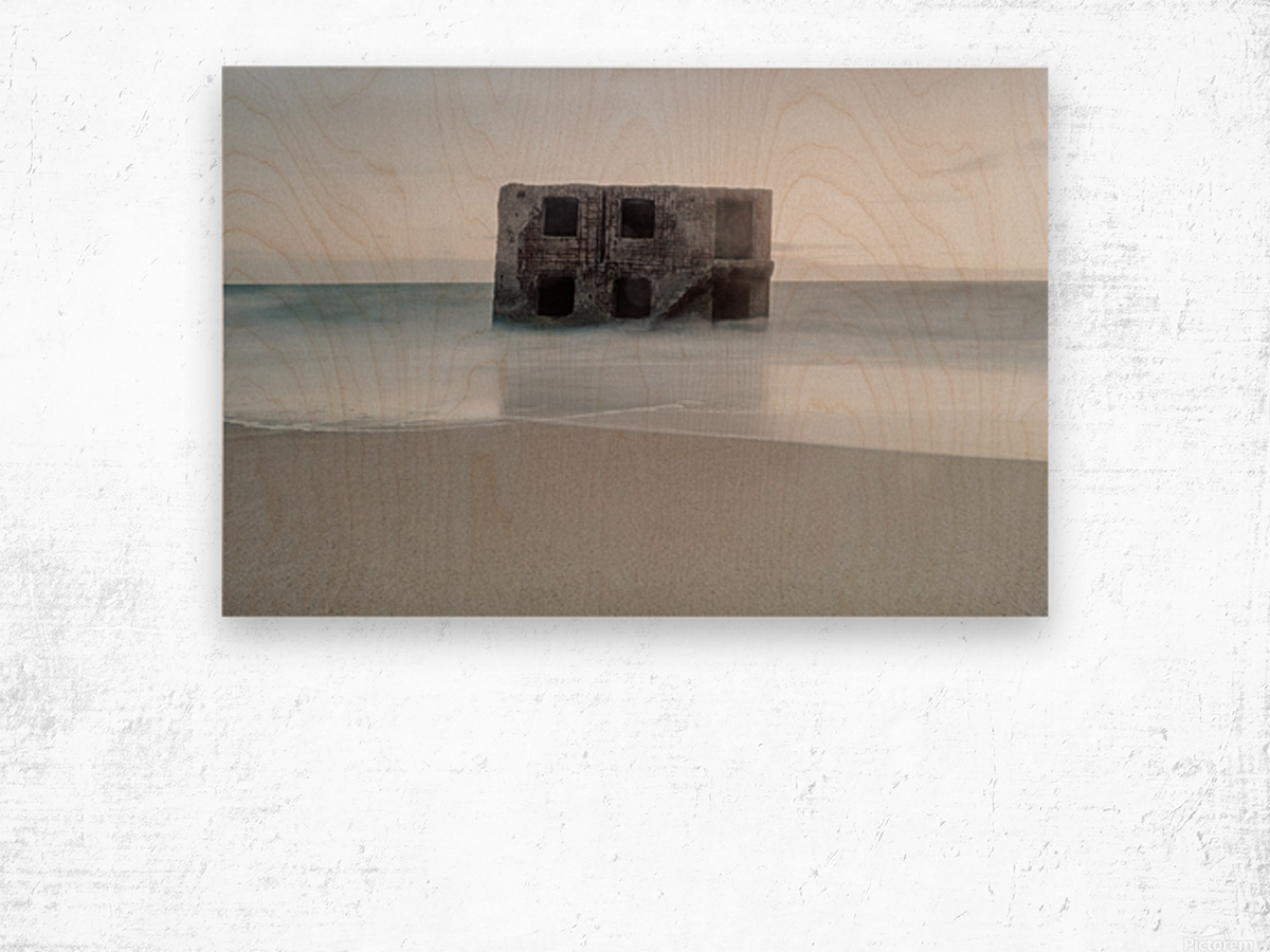 Fort in the sea Wood print