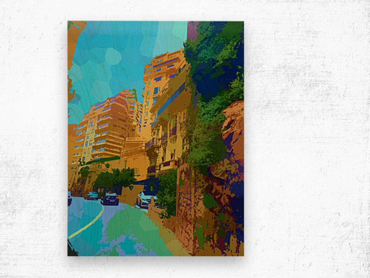 Monte Carlo Monaco Casino  Wood print