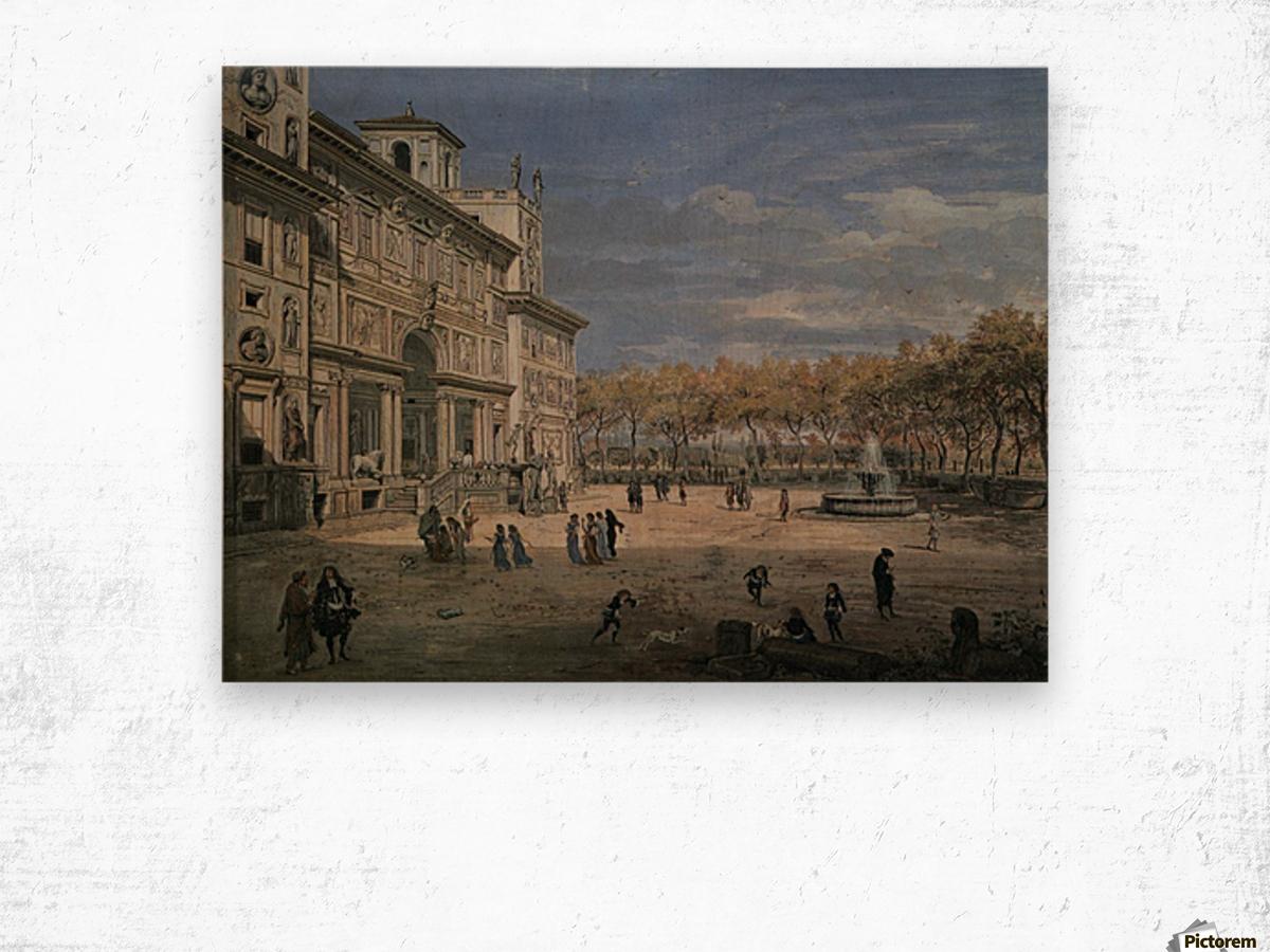 Villa Medici and garden in Rome Wood print