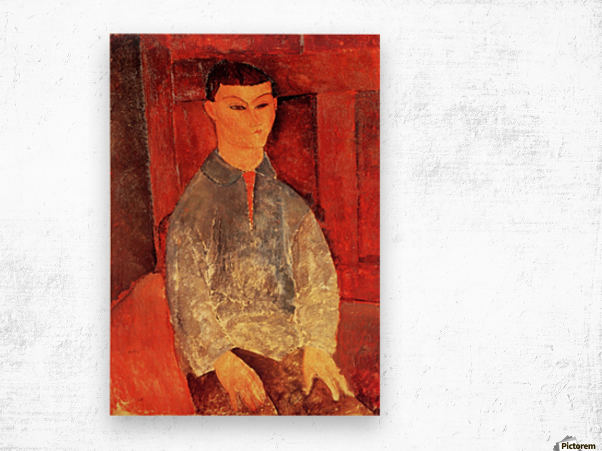 Modigliani - Portrait of Moise Kisling -3- Wood print