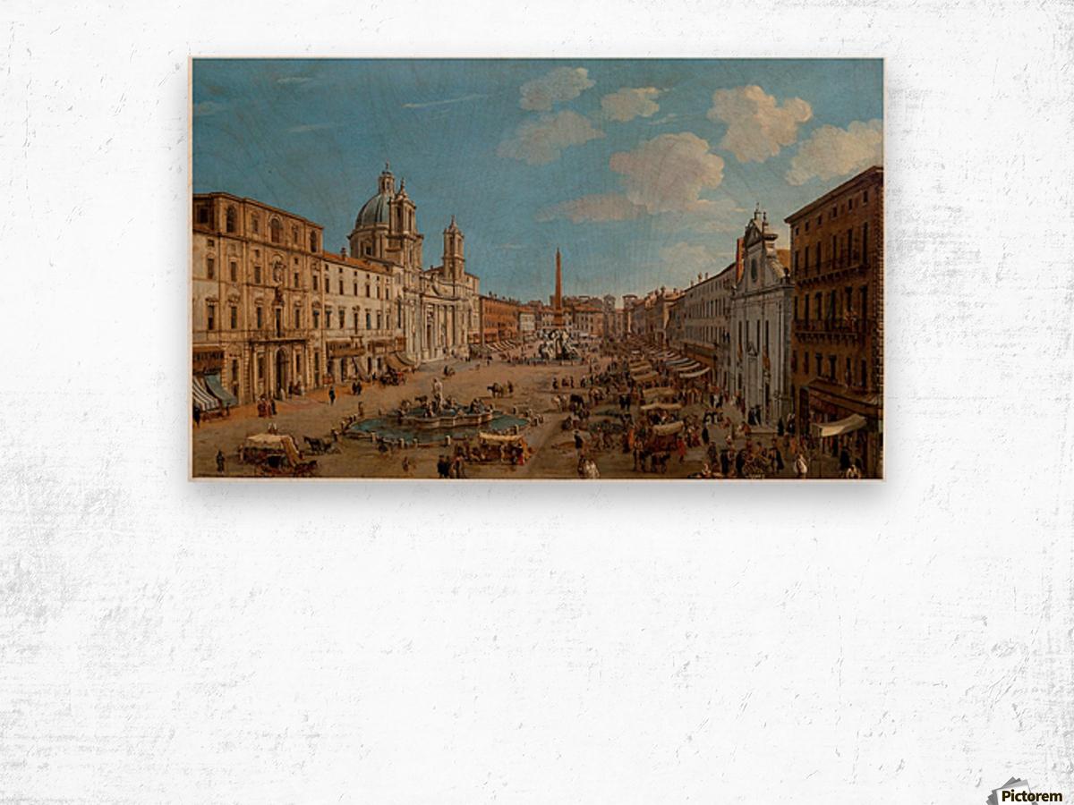 The Piazza Navona Wood print