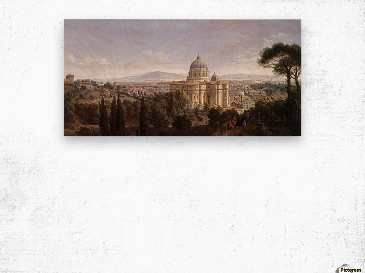 The St Peter's in Rome Wood print