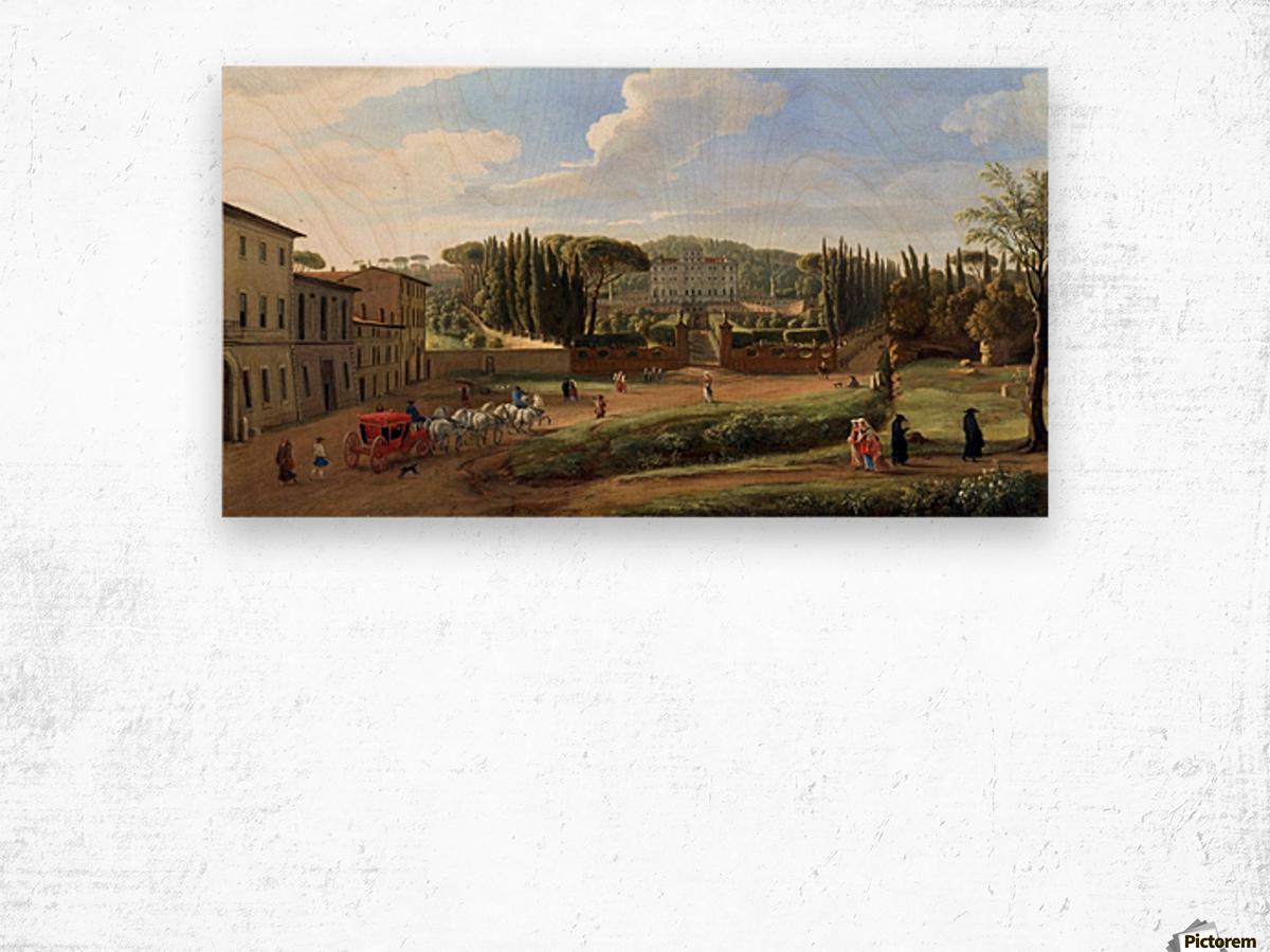 A view of the Villa Aldobrandini Wood print