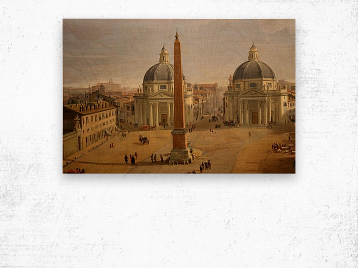 Veduta di Piazza del Popolo a Roma Wood print