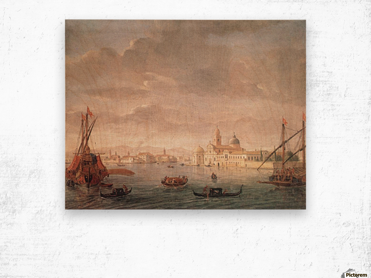 The Island of San Michele Wood print