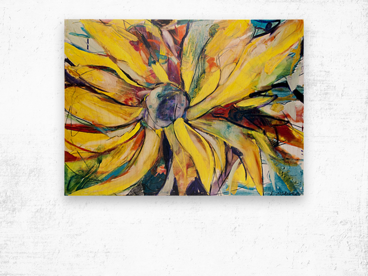 Louisiana Sunflower II Wood print