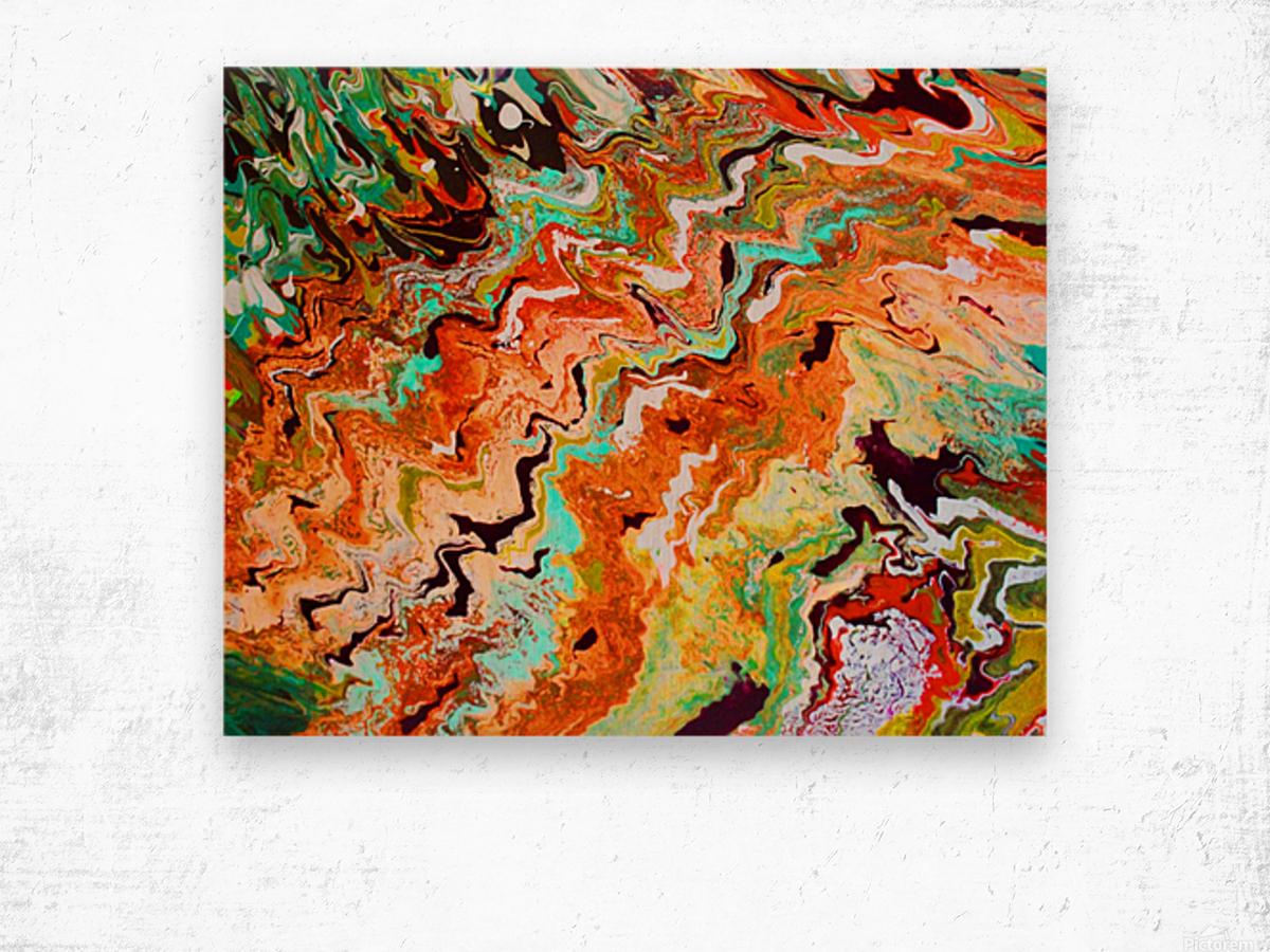 Rust Canyon Wood print