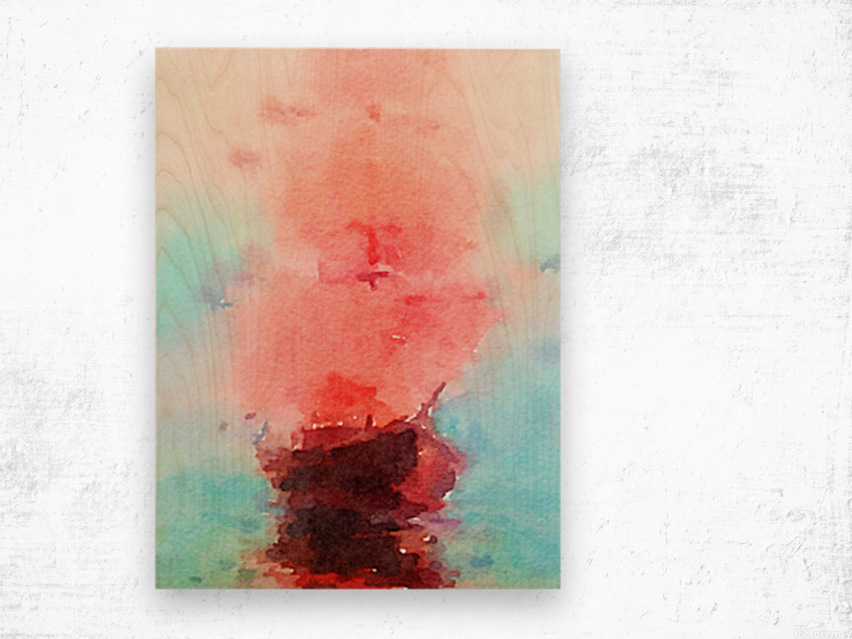 Red Sails Wood print