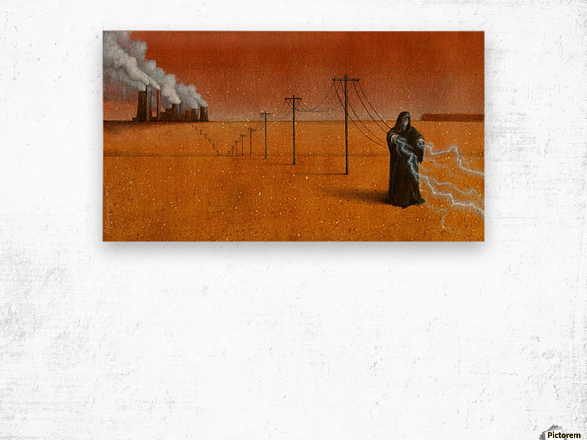dark industry Wood print
