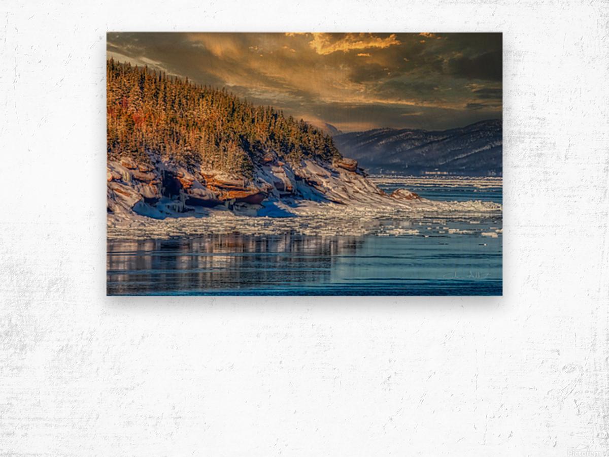 Pointe St-Pierre sous la glace Impression sur bois