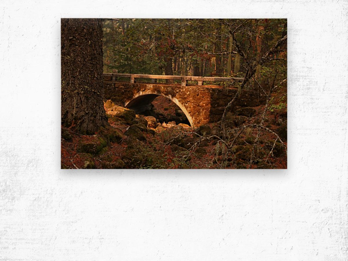 Troll Bridge Wood print
