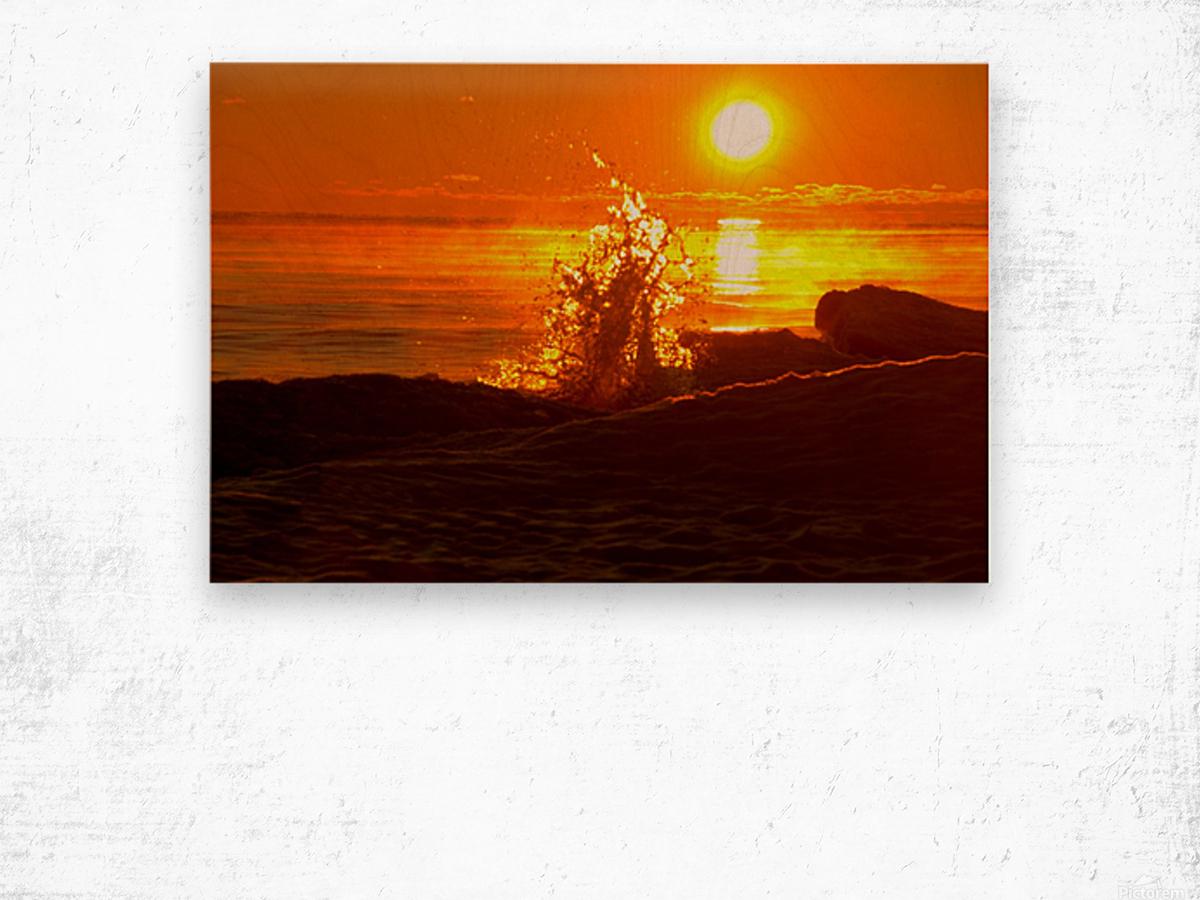 Lake Michigan Sunrise  Wood print