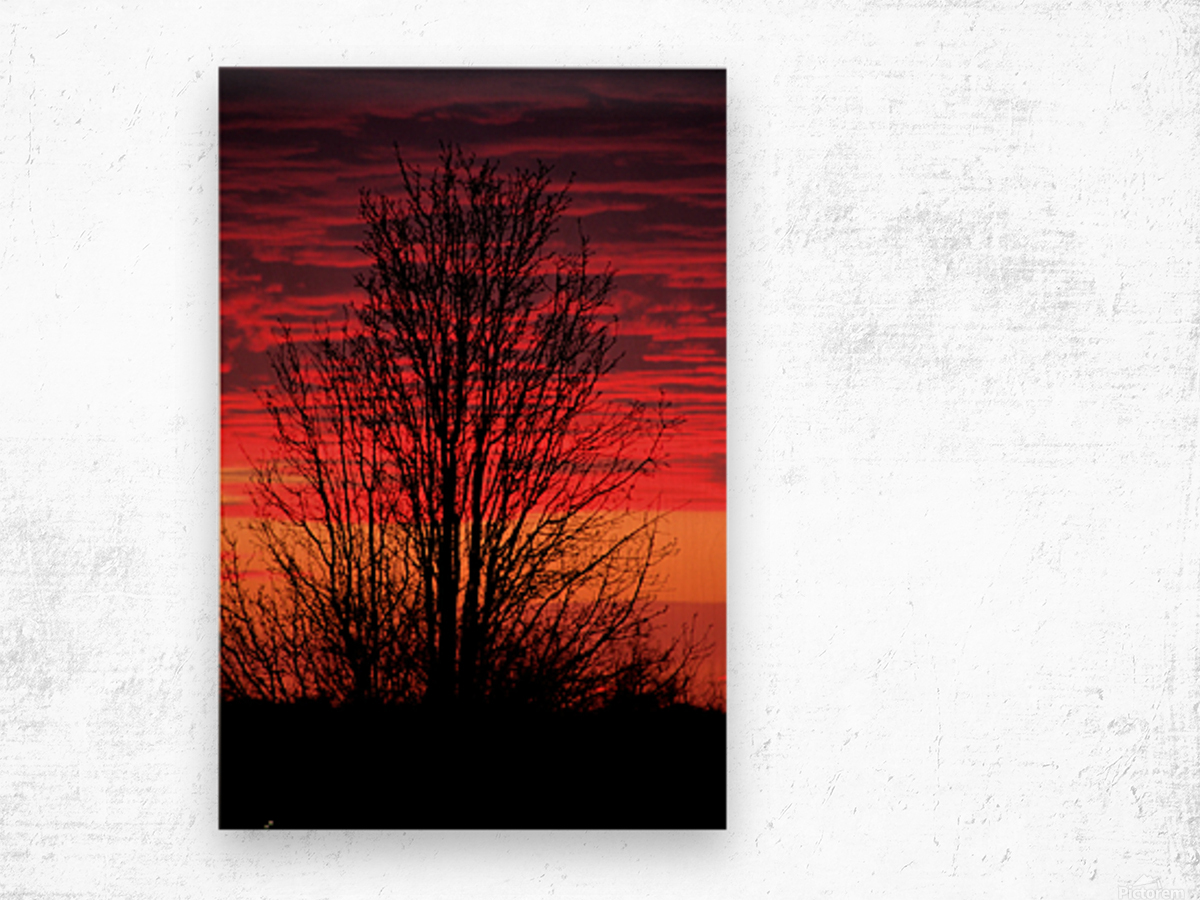 Missouri Sunset part 1 Wood print