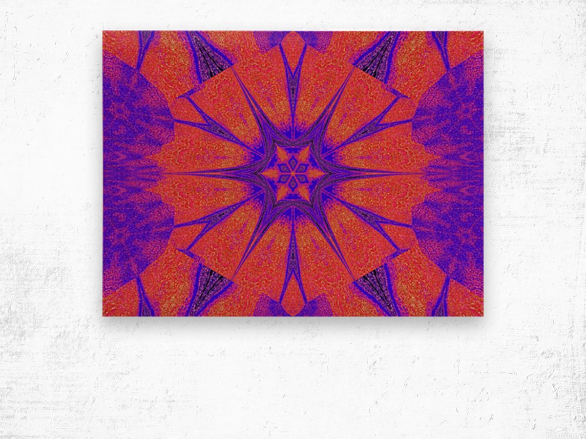 Lotus And Sunshine 2 Wood print