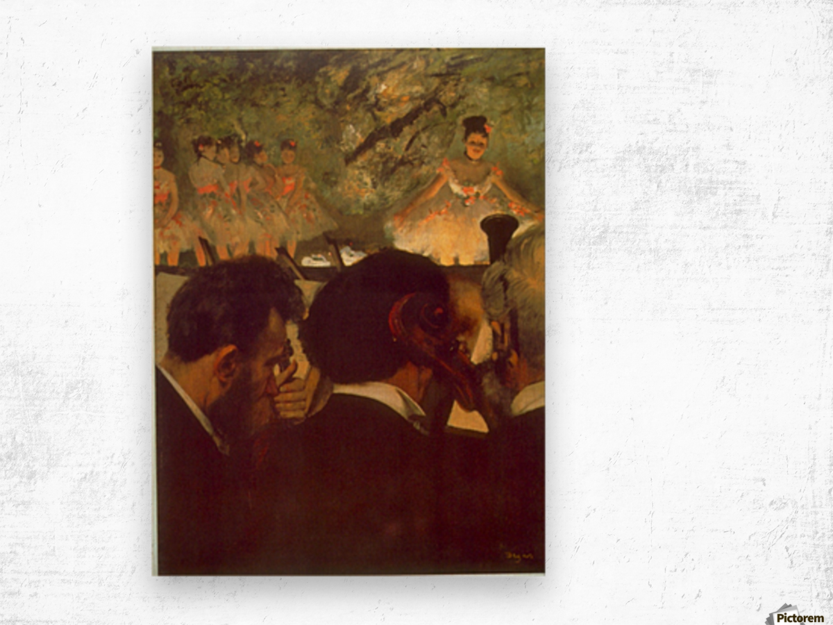 Musicians by Degas Wood print