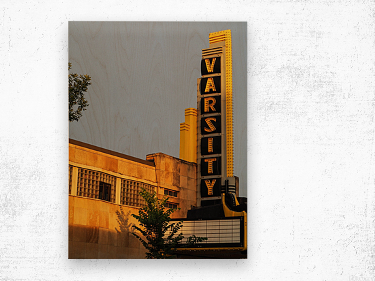 Varsity Theater  Wood print