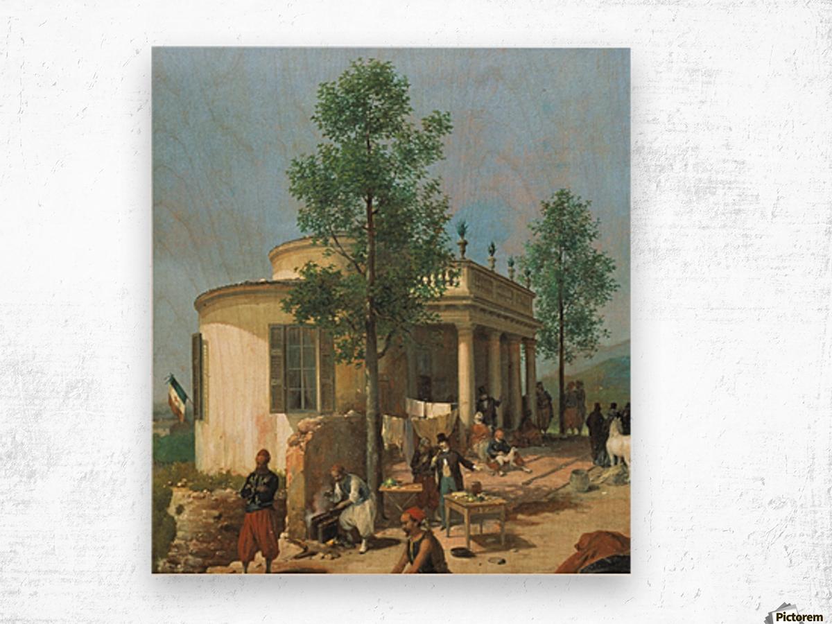 Zouave camp on Brescia city walls in June 1859 Wood print