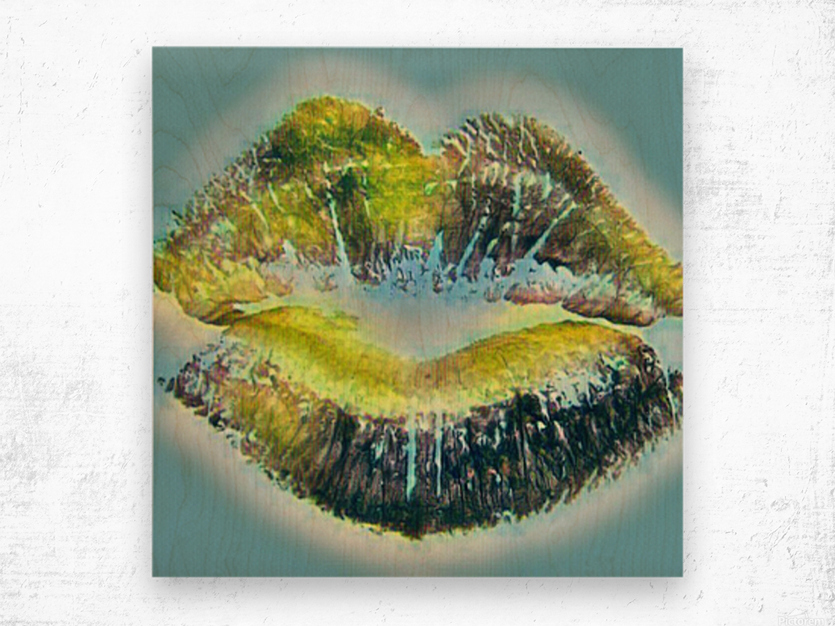 Every Kiss From you Makes My Heart Explode with Love Wood print