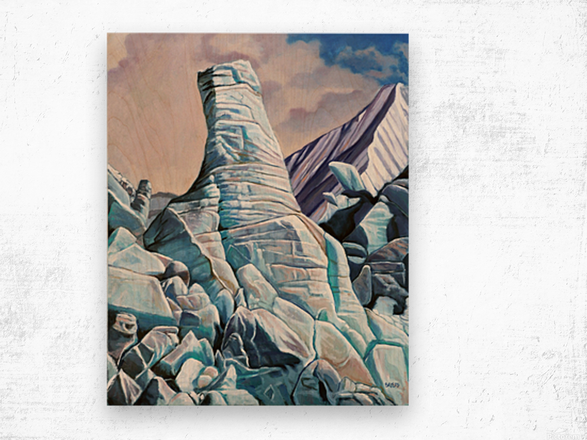 Glacier 3 Wood print