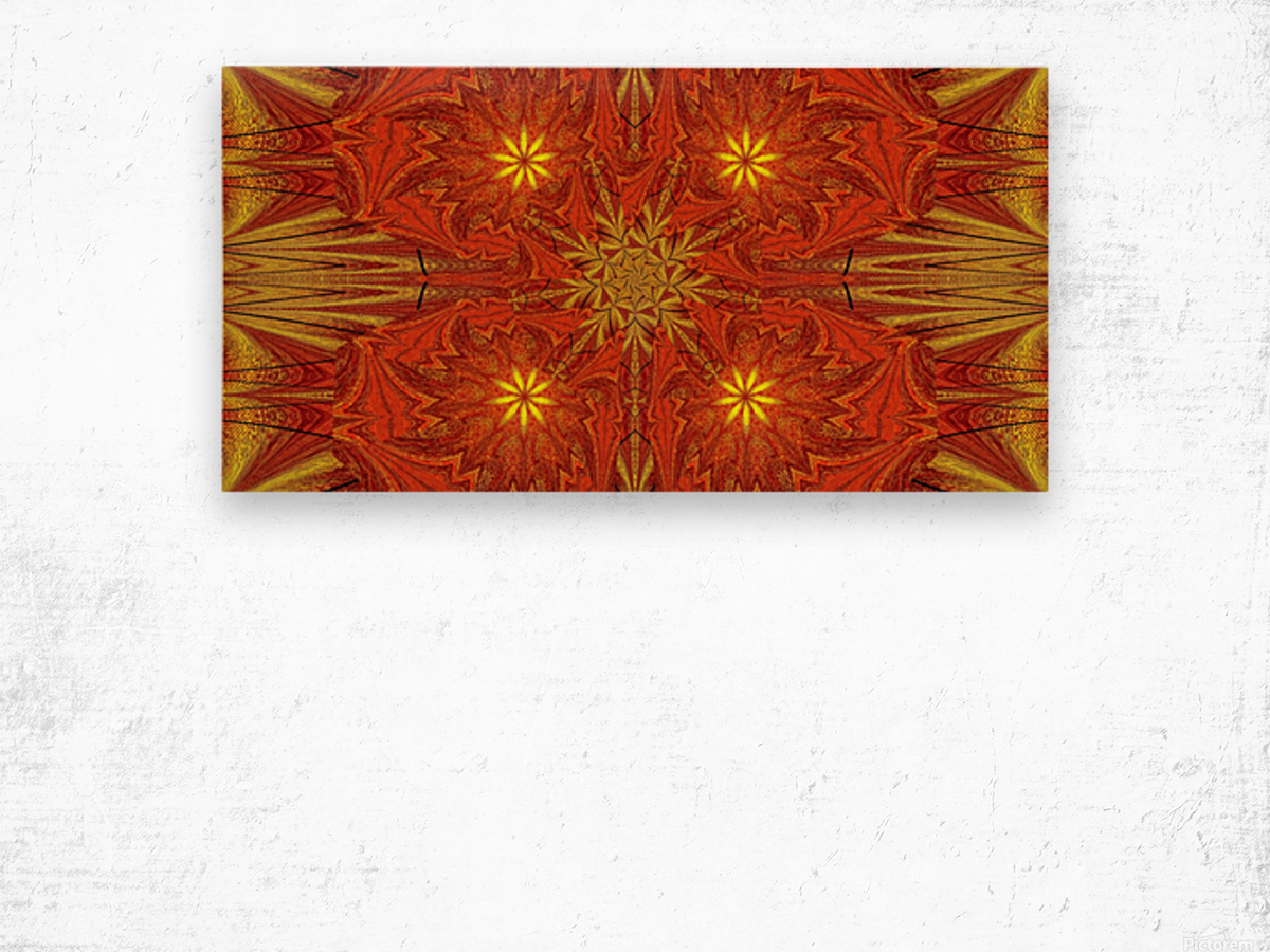 Golden Lotus In Light 4 Wood print