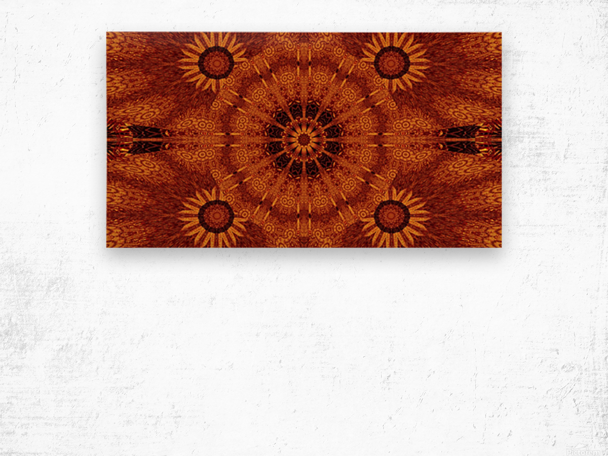 Black And Gold Wildflowers 3 Wood print