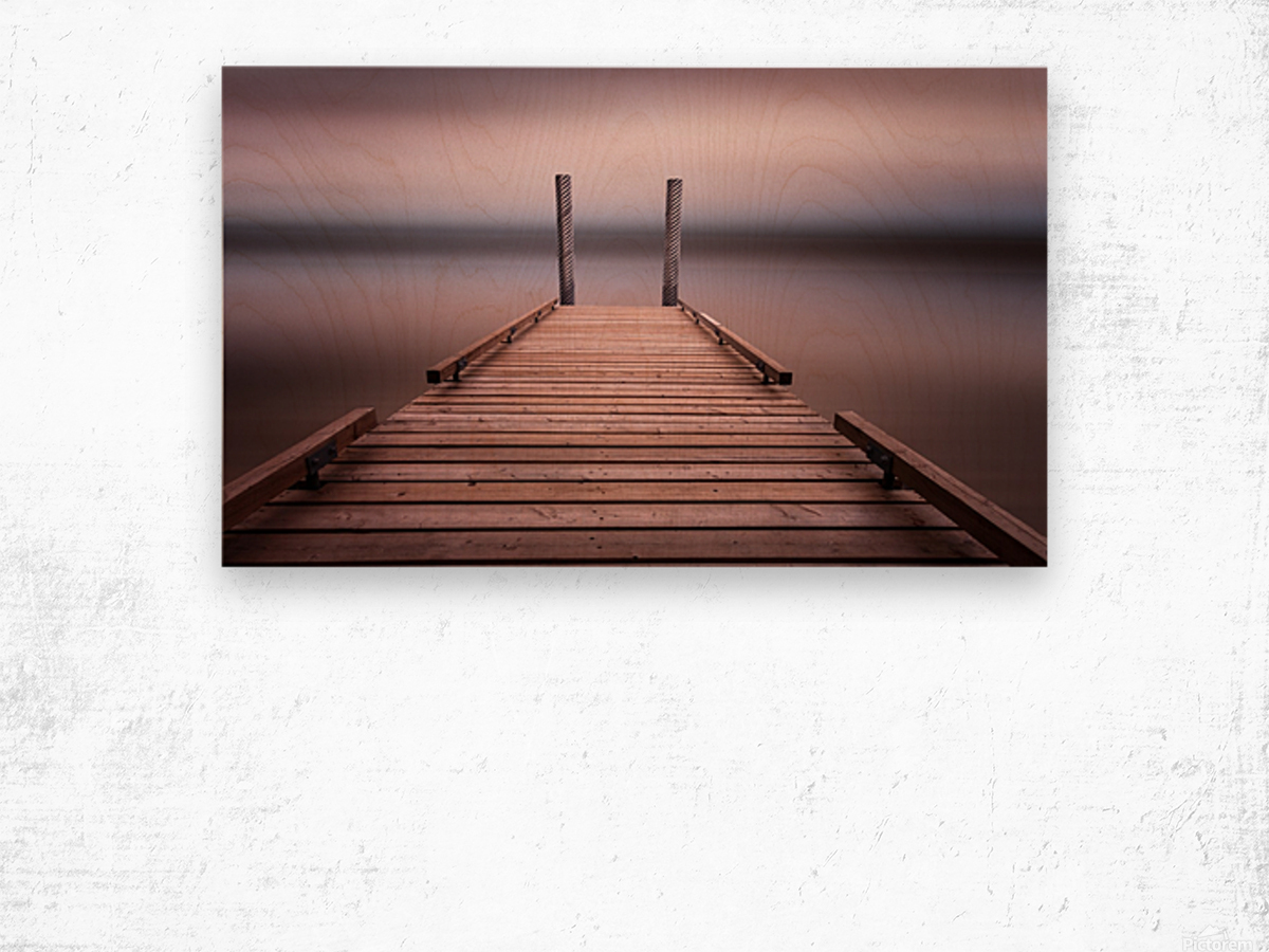 The jetty on Comox Lake Wood print
