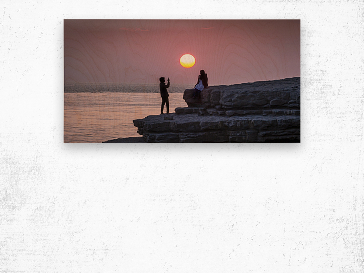 Photo opportunity at Nash Point Wood print