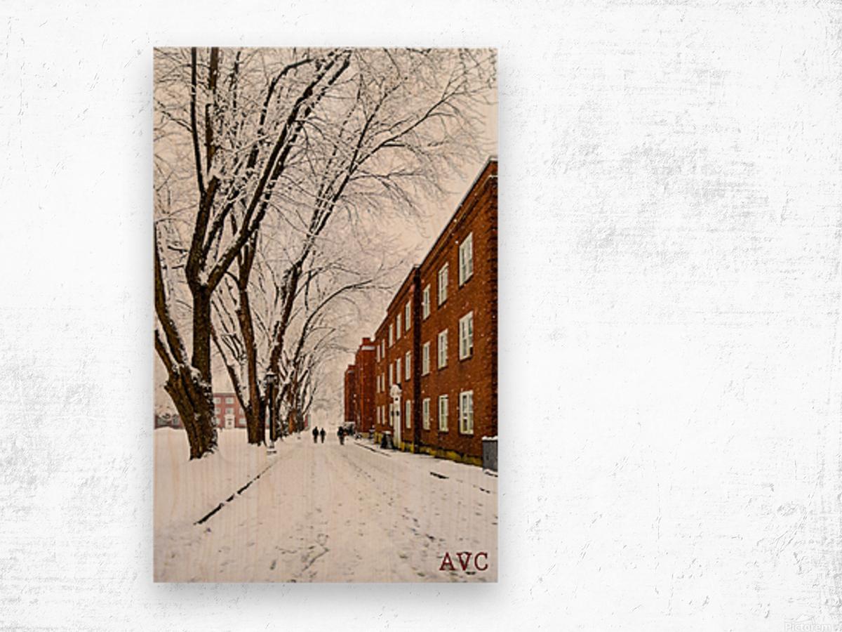 Walk on the UP Wood print