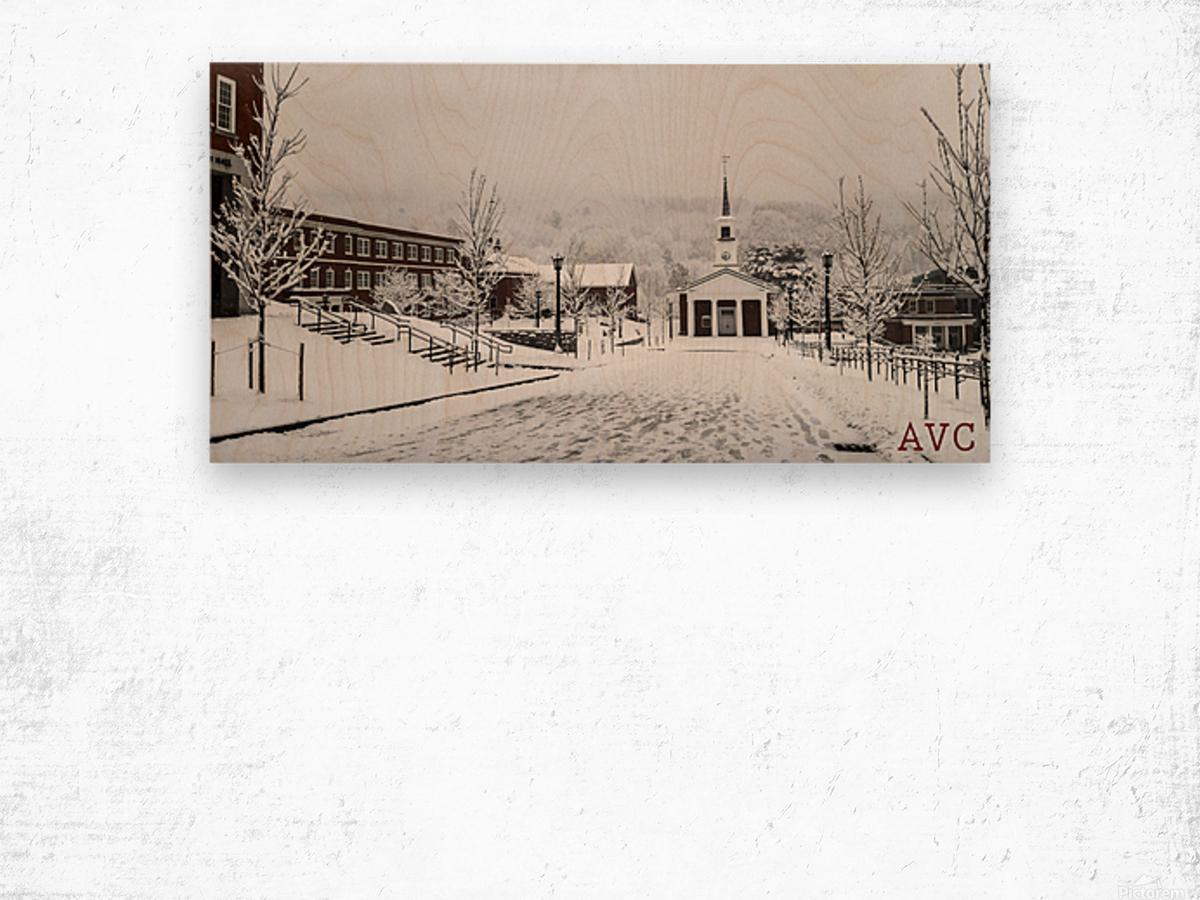 White Chapel-- Winter Wood print