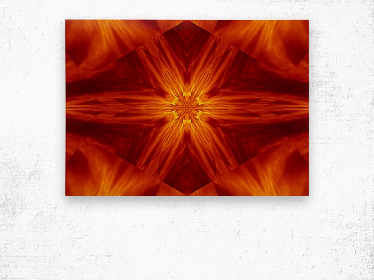 Fire Flowers 2 Wood print