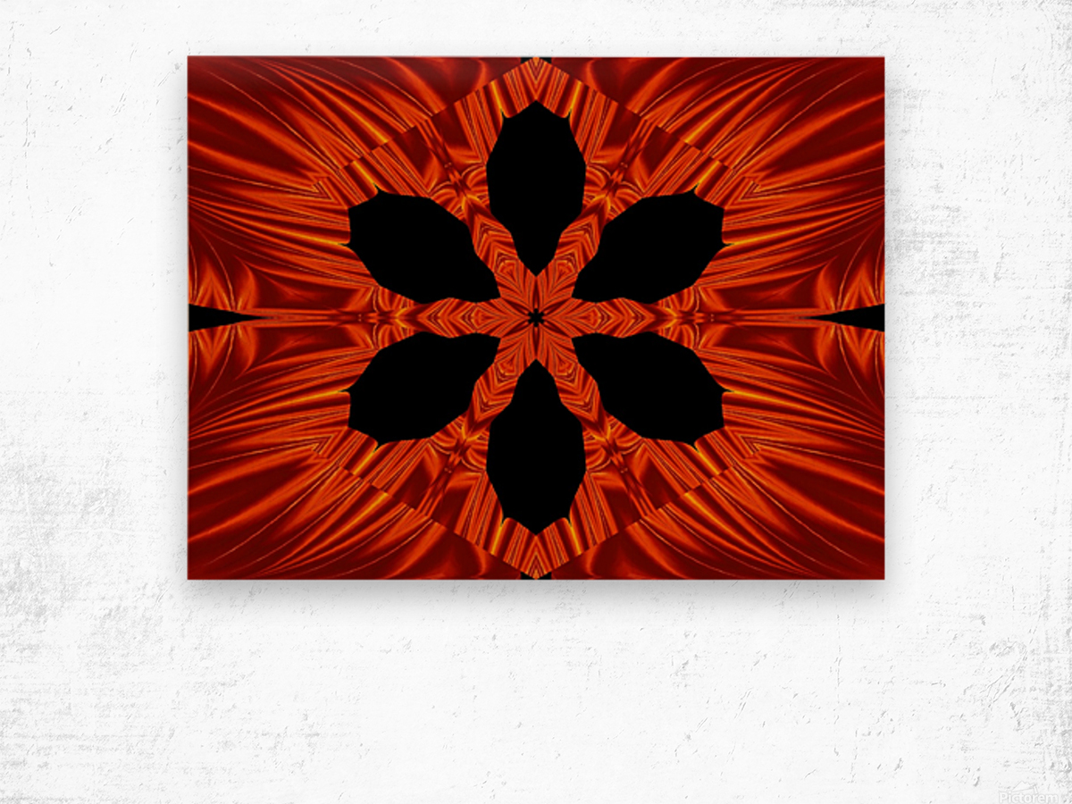 Fire Flowers 106 Wood print