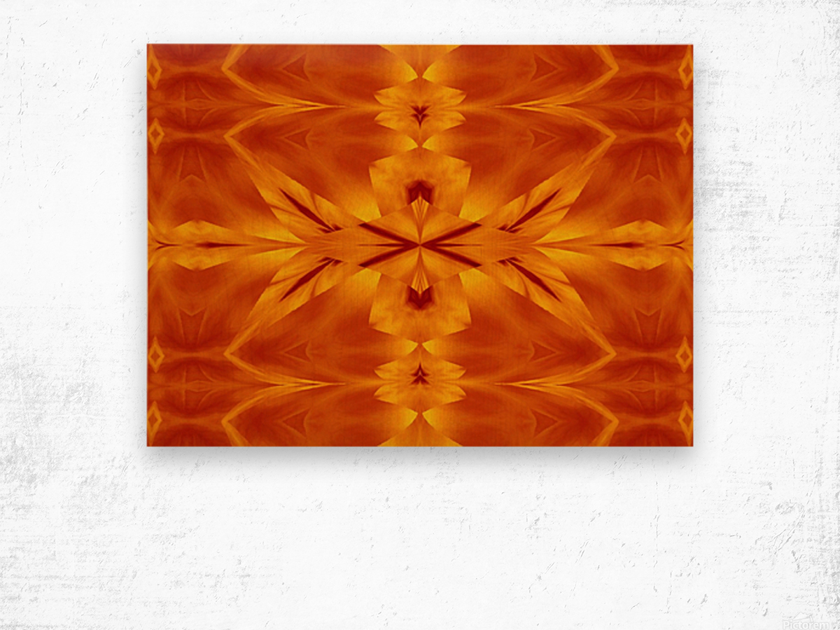 Fire Flowers 117 Wood print