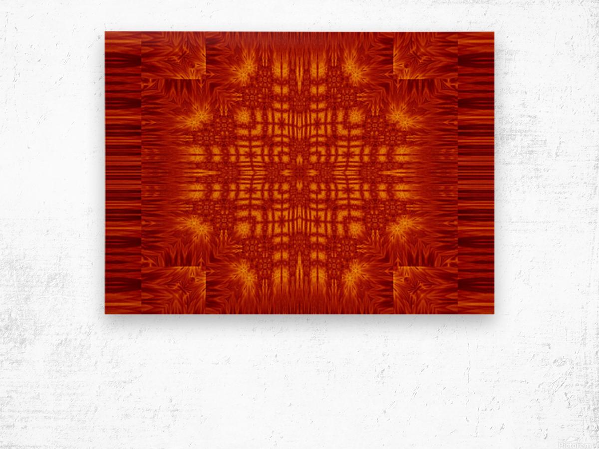 Fire Flowers 166 Wood print