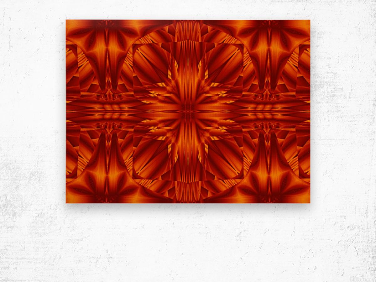 Fire Flowers 188 Wood print