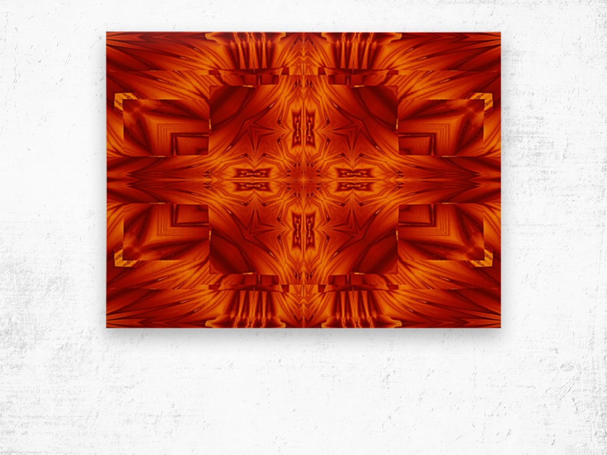 Fire Flowers 194 Wood print