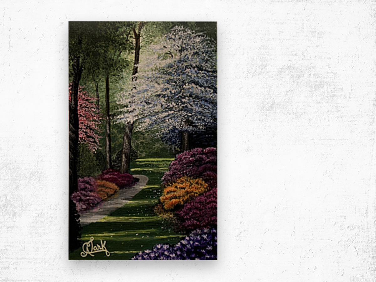Spring in the Park Wood print