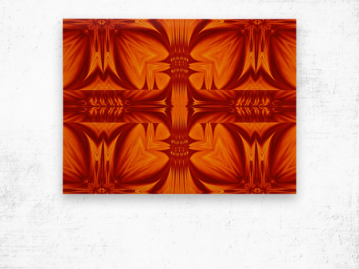 Fire Flowers 268 Wood print