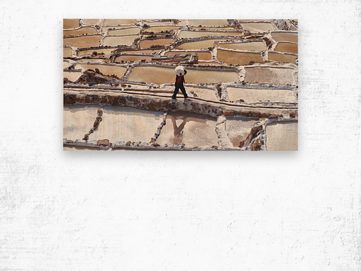 A Day at the Salt Mine Wood print