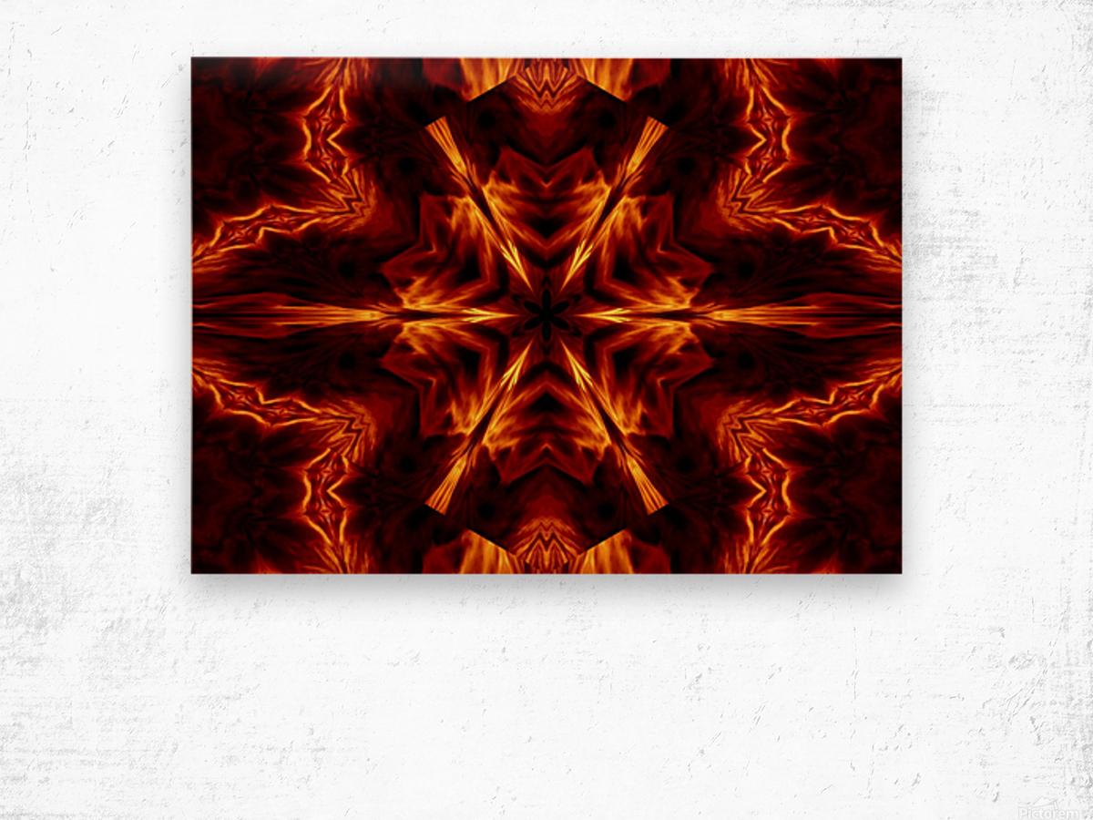 Eternal Flame Flowers 1 Wood print