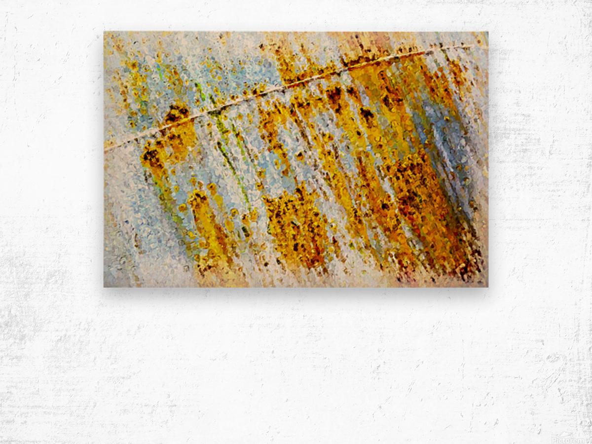 Rusty Barrel Wood print