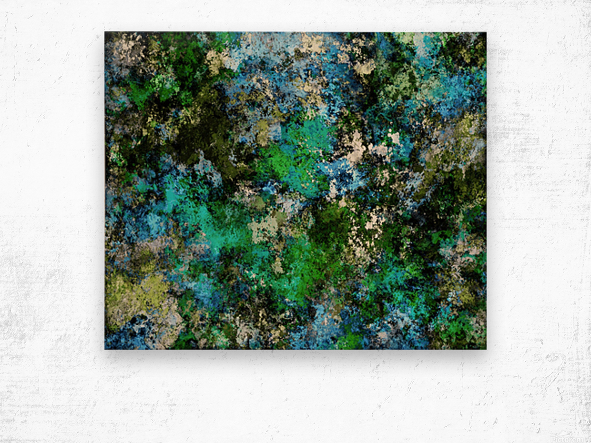 The wet and the moss Wood print