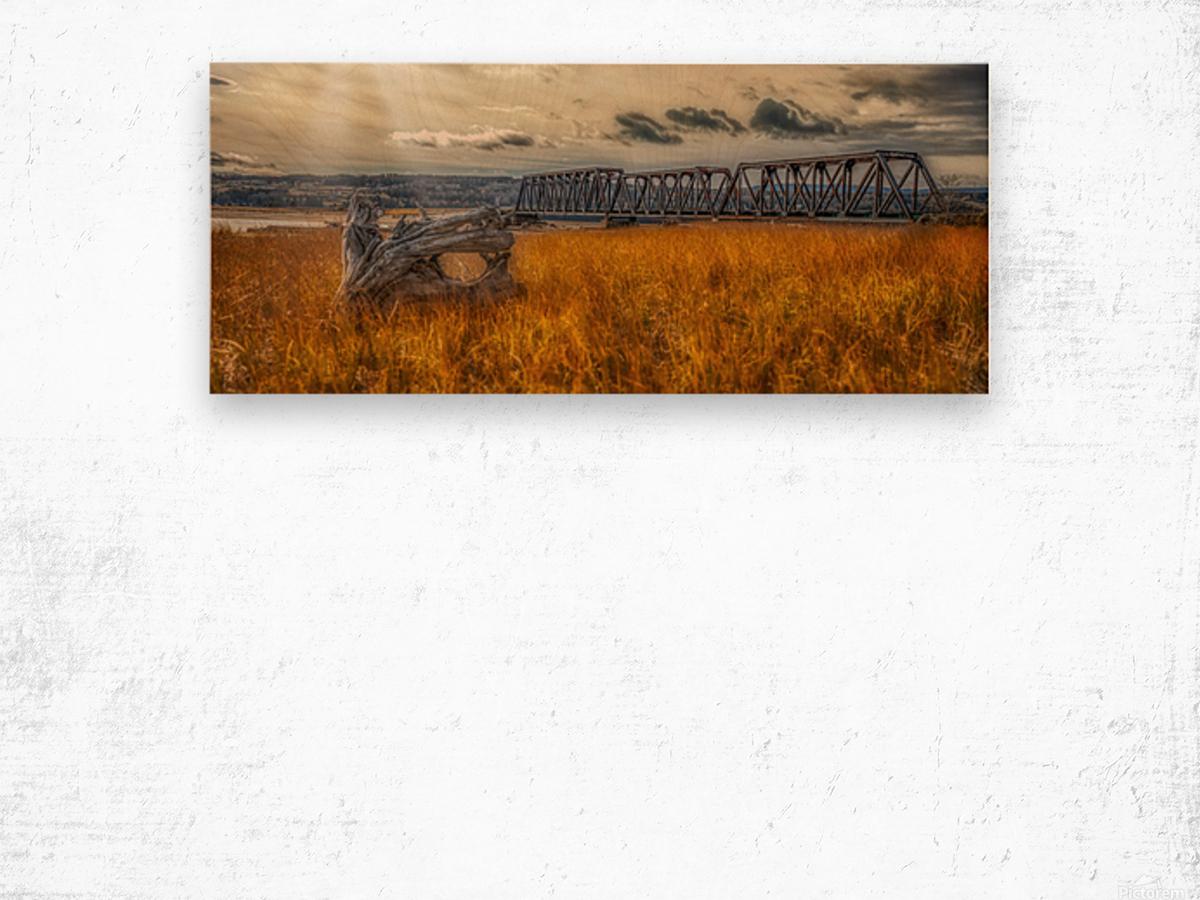 Pont de fer plage Haldimand Impression sur bois