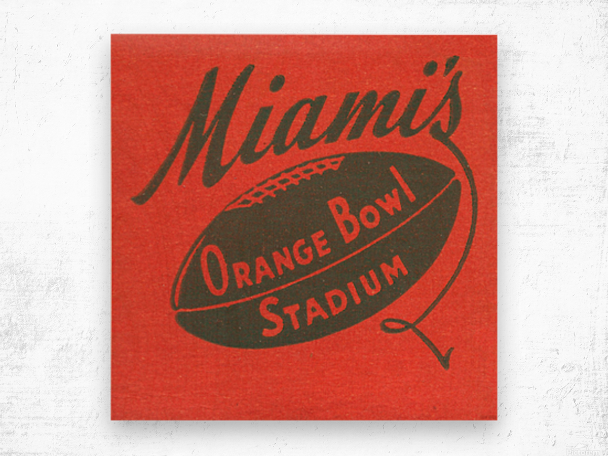 1950 Miami Orange Bowl Wood print
