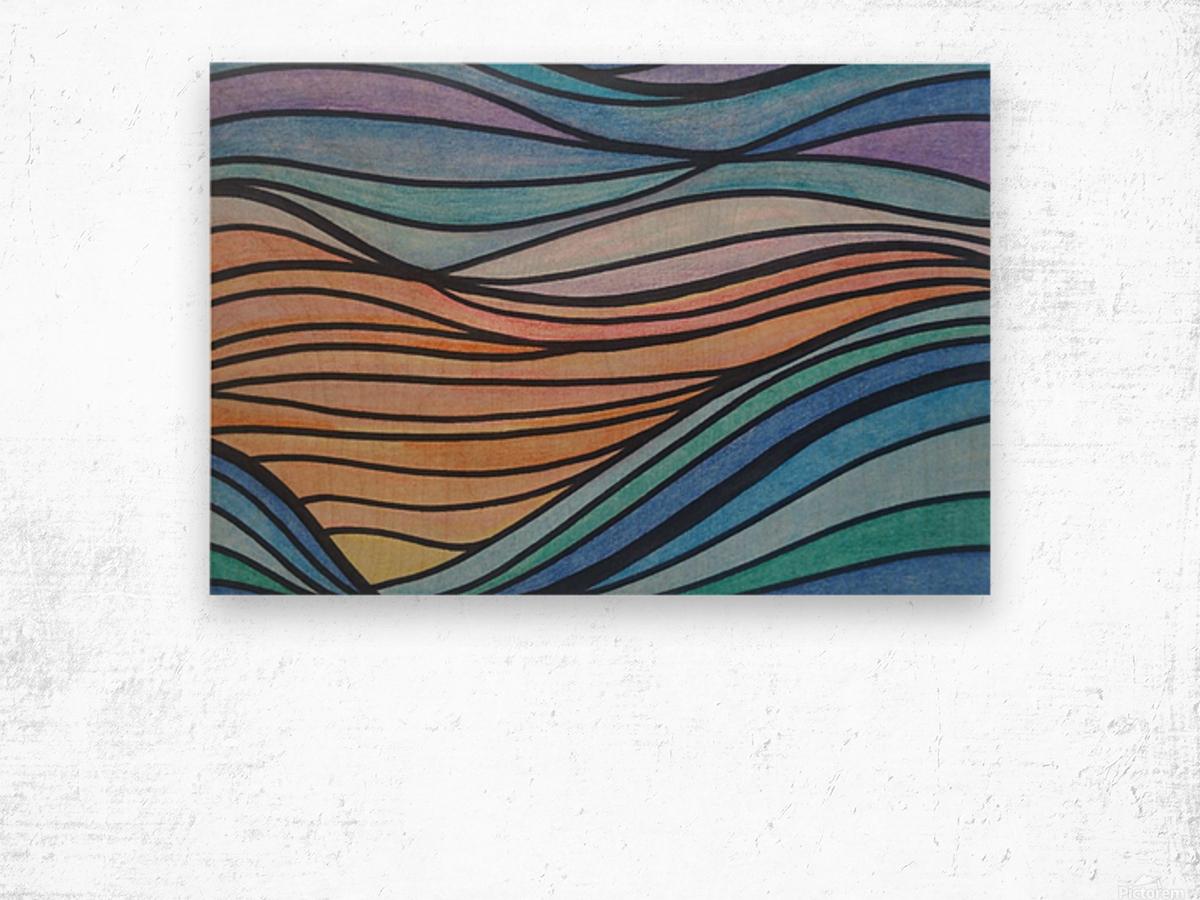 TealTide Wood print