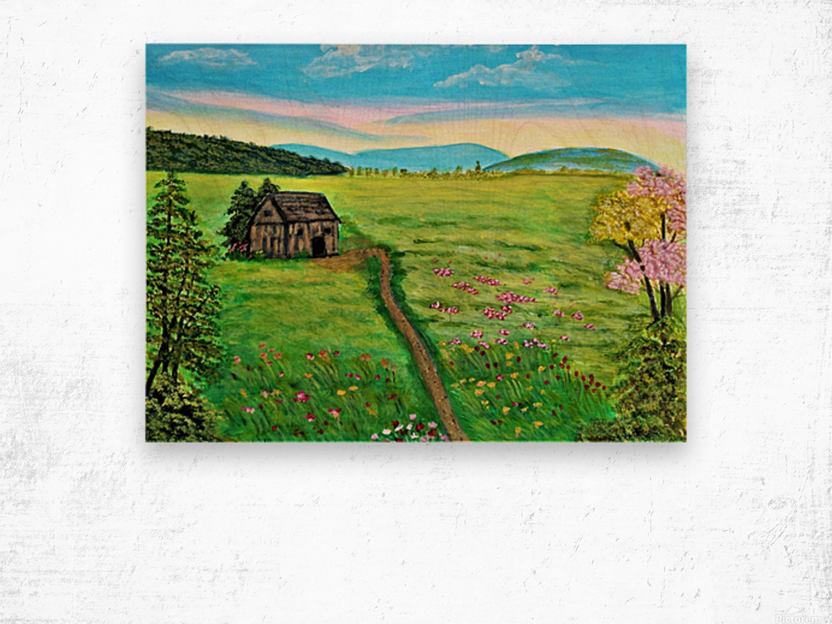 Sweet Little Home on Plains Wood print