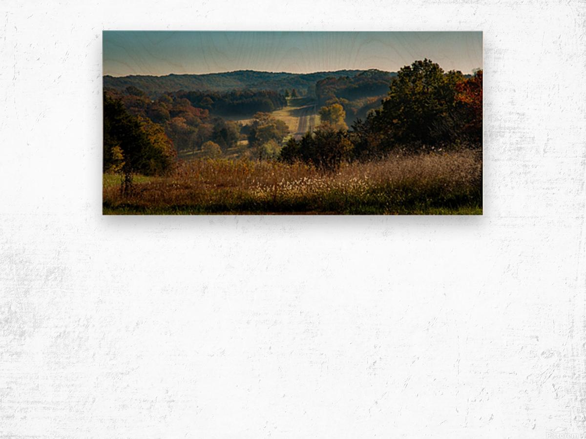 Missouri Morning Wood print