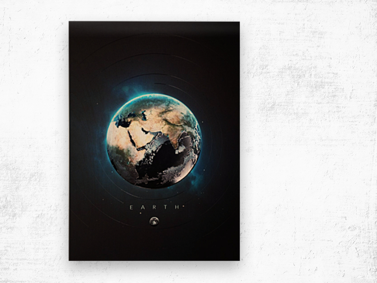 Destination Earth Wood print